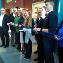 The official opening of the new library at l'École secondaire du Sacré-Coeur. photo album thumbnail 2